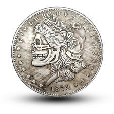 Souvenir Coin 1878 Morgan's skull Round Souvenir Coin Commemorative Coins