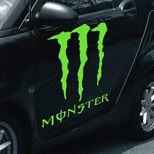 """MONSTER decal large 19""""x17"""" lime green vinyl graphics wrap sticker truck jeep"""