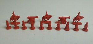 1998 Hasbro RISK Board Game Red Army Replacement Pieces Parts Miniature Soldiers