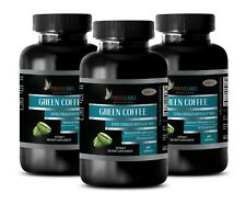 Green Coffee Bean Extract GCA 800 - Reduce Cellulite - Weight Loss - 3 Bottles