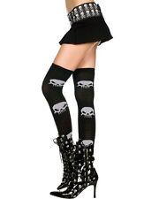 Big Skull Acrylic Tights-Hi Punk Goth Black Rock Dark Halloween 4615