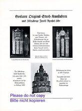Stroh Kunstuhr Goslar XL Reklame 1926 Standuhr Zwölf Apostel Uhr Wunderuhr +