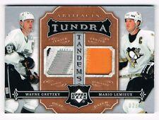 2007-08 Artifacts Tundra Tandems Dual Patch Wayne Gretzky Mario Lemieux 02/35 !!