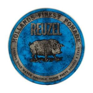 Reuzel Blue Mens Hair Pomade 35g Strong Hold Water Soluble Travel Size