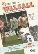 Walsall v Brentford - FA Cup - 7/1/1989 - Football Programme