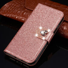 Bling Glitter Sparkly Leather Flip Wallet Phone Case Cover For iPhone 11 8 Plus