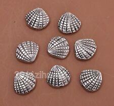 10pcs Tibetan silver CHARM shell bead loose spacer beads 12mm B3066
