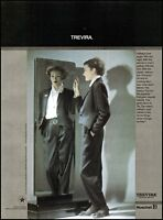 1985 Batya fashions Trevira woman in man's suit  vintage photo Print Ad  ads15