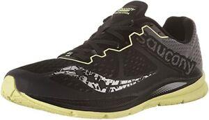 Saucony Men's Fastwitch Running Shoe, Black/Citron, 9 D(M) US