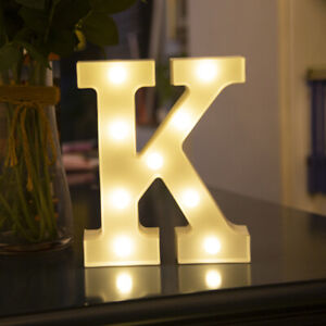 LED Alphabet Letters Lights Large Light Up Plastic Numbers Party Birthday Sign