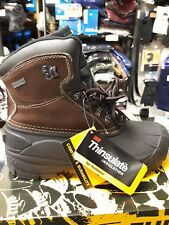 Mens Snow Boots Insulated Waterproof Genuine Leather Trinsulate SIZEs from 7-13