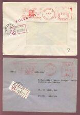 Poland 1974-78 Regist.+ Advert Meter Frankings 5 Covers