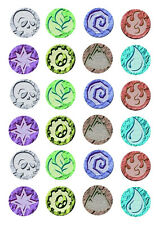 24 assorted Skylanders Elements 4cm round cupcake edible images