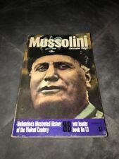 Mussolini by Christopher Hibbert (1972, Book, Illustrated) ballantine 1st Print!
