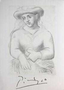Pablo Picasso - Femme Au Chapeau Et Au Missel - 1982 Lithograph Art Print