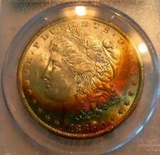 1883-O Morgan Dollar MS62   PCGS  Super Nice Toned Rainbow Obv !