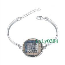Born to Quilt glass cabochon Tibet silver bangle bracelets wholesale