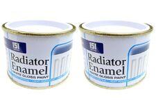 2pk Radiator Enamel Paint White Gloss Heat Resistant topcoat Pipes Quick Dry