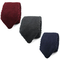High Quality Men's Fashion Tie Knit Knitted Tie Slim 6cm Wide Woven Pointed G9C