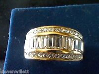 14K & STS 3.75CTW LCS DIAMOND WEDDING ANNIVERSARY BAND RING SZ 7 OTHER SIZES! >