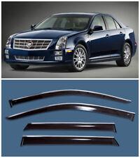 Chrome Trim Side Window Visors Guard Vent Deflectors For Cadillac STS 2004-2011