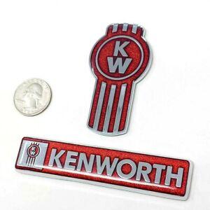 kenworth kw emblem metal truck semi chrome set