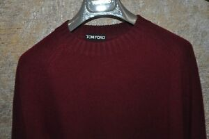 Authentic New Men's Tom Ford Burgundy Wool Sweater