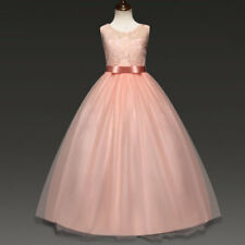 111b59c3238 Flower Girl Dress Princess Formal Birthday Pageant Holiday Party Bridesmaid  4-5 Red
