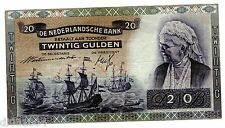 PAYS BAS Netherlands Billet 20 GULDEN 17/12/ 1940 P54 WW2 Koningin Emma BON ETAT