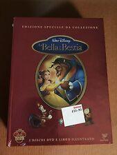 DISNEY DVD La bella e la bestia  Edizione Speciale 2 Dvd  con libro Illustrato