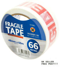 4x LONG LENGTH PACKING PARCEL FRAGILE TAPE STRONG - FRAGILE 48mm x 66M