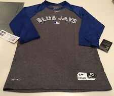 Toronto Blue Jays Baseball Authentic Collection Legend 3/4 Raglan T Shirt XXXL