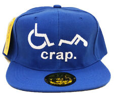 OH CRAP! Funny Handicapped broken wheelchair Snapback Cap Hat Halloween Party
