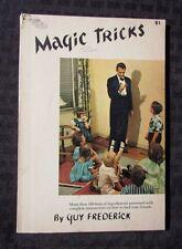 1958 Magic Tricks by Guy Frederick Sc Vg Sterling