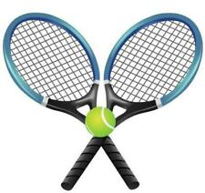 NOVELTY TENNIS RACQUETS & BALL12 STAND UP Edible Image Cake Toppers Wimbledon