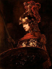 Dream-art Oil painting male portrait Medieval knight holding Spears and shields