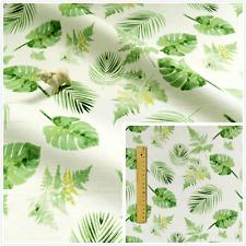GREEN Fat Quarter/Meter/FQ Cotton Sewing Fabric Floral Leaf Botanical Prints