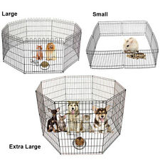 8 Panel Pet Fold Portable Dog Cat Guinea Pig Hamster Garden Play Pen Fence Cage