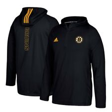 Boston Bruins NHL Adidas Men's Black '17 Climalite Authentic Training Hoodie