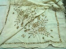 Old Albania headkerchief gold thread from otoman time-hand embroidery-100 years
