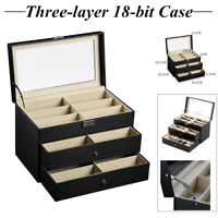 Large Jewellery Display Box Bracelet Ring Necklace Storage Organiser Travel Case