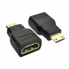 Mini HDMI Type C Male to Type A Female Adapter Connector for 1080p 3D TV HDTV TR