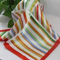 Bandanna Silk Satin Feel 50cm Small Square Head Neck Scarf Vintage Elegant A163