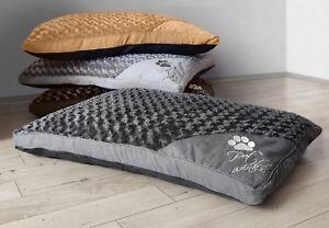 Large Extra Large Faux Fur Pet Bed Mattress Pet Winks Removable Washable Cushion