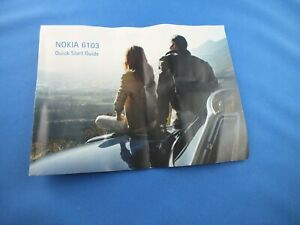 Nokia 6103 Bedienungsanleitung Kurz Anleitung English Quick Start Guide Manual