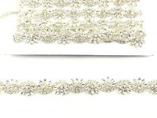 Rhinestone Bridal Belt Wedding Dress Sash Diamante Applique Trim 11''X2.3Cm