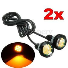 2x 12 LED Car Motorcycle Eagle Eye Daytime Running DRL Tail Light Lamp Amber 12V