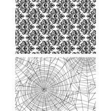 Tim Holtz Cling Stamps - Skulls and Cobwebs