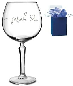 Personalised Engraved Gin Glass Birthday Gifts, any name , any occasion
