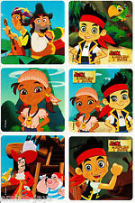 Jake and the Neverland Pirates Stickers x 6 - Favours - Birthday Loot Bag, Gifts